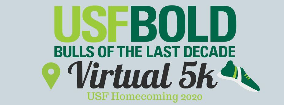 USF BOLD Bulls of the Last Decade Virtual 5k Homecoming 2020 logo